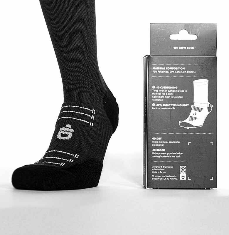 -ID Crew Sock Invisible Brand - Detail