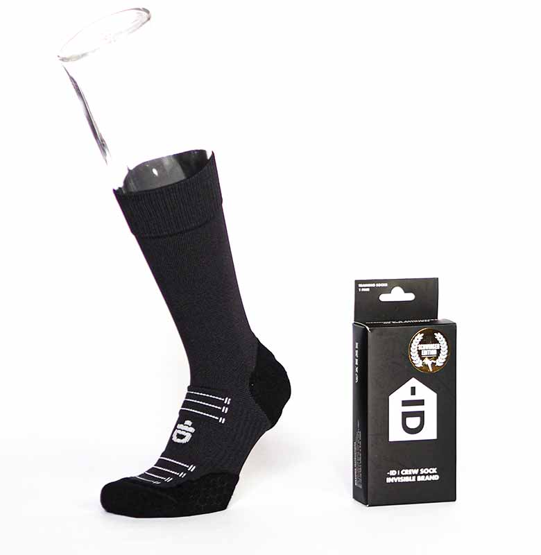 -ID Crew Sock Invisible Brand | Stucki Edition